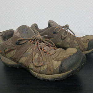 Columbia Mens Size 11 Hiking Running Shoes Brown